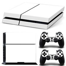 Sony PS4 Skin 1st Console & 2 Controllers White Finish Decal Vinyl Cover Wrap