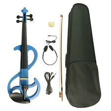 4/4 Electric Violin Maple Body Neck W/Earphone Cable Set 4/4 Student Violin SET