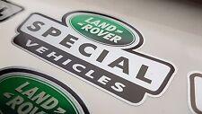 3 x Argento LTD ED Land Rover Speciali Veicoli adesivi Defender Disco 90 110 td5