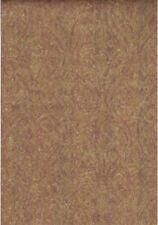 Damask in Plum, Metallic Gold & Brown Overlaid Stripe Wallpaper JM2615