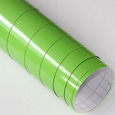 3x DIN A4 Wrapping Folie Grün Glanz 21cm x 29,7cm Autofolie mit Luftkanälen