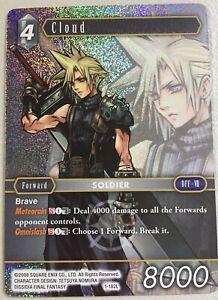 Final Fantasy Trading Card Game Cloud 1-182L Opus 1 Foil Near Mint FFTCG