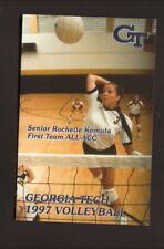 Georgia Tech Yellowjackets--1997 Volleyball Pocket Schedule--Coke