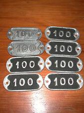 Plaque en fonte d/'aluminium numérotée N° 70 8 dispos