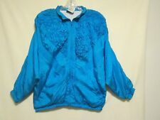 Women's Vintage MURELI Aqua / Teal Nylon Windbreaker Jacket size  L