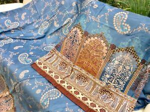 Bassetti Satin Bettwäsche Jaipur blau altrosa 135x200cm Kissen 80/80cm SET