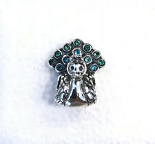 Pandora Peacock, Teal & Green CZ Charm #791227MCZ +Pouch +Gift Package
