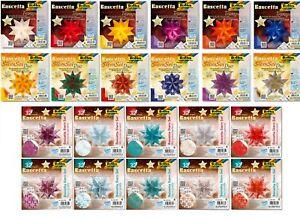 Bascetta Stern Set folia Farbwahl  Musterwahl und Größen 15 x15 cm bis 30 x30 cm