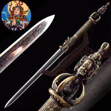 Buddhist Phurpa Dorje Phurba Sword Drop shadowbane pattern steel sharp blade#060