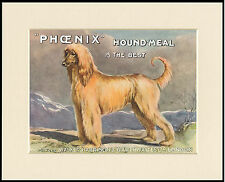 AFGHAN HOUND GREAT DOG FOOD ADVERT PRINT MOUNTED READY TO FRAME