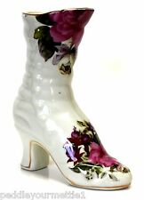 "La Dolce Vita Summer Rose Collection Porcelain Boot Figurine JA Designs 6 1/2"" T"