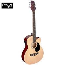 Stagg SA20ACE Full Size Cutaway Auditorium Acoustic Electric Guitar - Natural