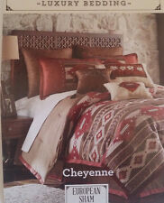 $49.99 NEW Cheyenne Remington Lodge LUXURY BEDDING Euro European Pillow Sham NIP