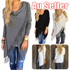 Long Sleeve Solid Tops & Blouses for Women with Tassels