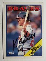 1988 Topps Ken Oberkfell Autograph Braves Cardinals Astros Auto Card #67 Signed