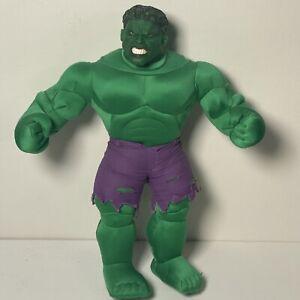 "2003 Hulk the Movie Marvel Entertainment 15"" Plush Action Figure w/ Vinyl Head"
