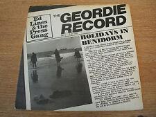 "ed lines & the press gang holidays in benidorm 1981 uk issue  7""  vinyl 45"