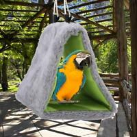 Sleep Bird Hut Toy Triangle Nest Pet Hammock Hang Cave Bed Parrot Tent Cage