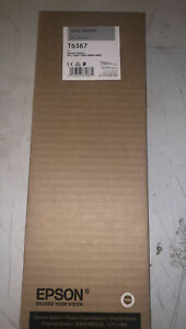 NEW EPSON T6367 Light Black Ink 700ml Stylus Pro 7890/7900/9890/9900 Exp 09/22