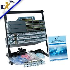 Cisco CCNA Security, 3 2811 Router, 3 2960 Switch & ASA Lab Kit *Rack & 1 Yr Wty