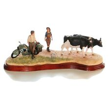 Border Fine Arts, Flat Refusal, B0650, Ltd Ed, Motorbike, Cattle