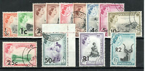 Swaziland 1961 New currency surcharge set to 2r on £1 FU CDS