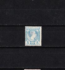 MONACO   prince Charles III   5c  bleu     de 1885  num:  3  *