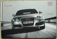 AUDI RS6 QUATTRO Hardback Sales Brochure Sept 2007 GERMAN TEXT #758/1160.00.09