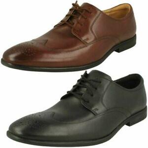 Mens Clarks Brogue Detailed Shoes 'Bampton Wing'