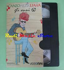 VHS CANZONE ITALIANA Gli anni 60 BATTISTI TENCO ENDRIGO PAOLI no cd mc dvd(VM8)
