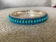 "Brighton ""Global Dreams"" Wide Turquoise Bangle Bracelet"