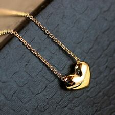 Women's/Girl's: Gold Plated Classic 'Heart' Chain/Necklace & Pendant Set