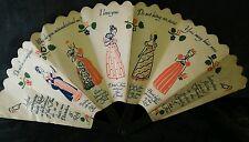 VINTAGE 1939 OLD SPICE TALCUM ADVERTISING FAN GENTEEL FEMALES COQUETRY OF FAN