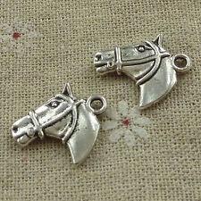free ship 100 pieces tibetan silver horse head charms 21x16mm #3681