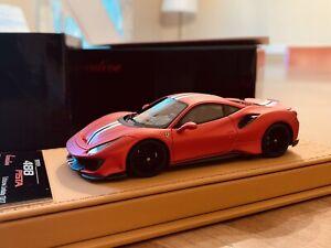 1/43 BBR Ferrari 488 Pista in special Limited Edition 13/17 In Matt F1 Red