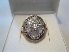 Antiker Damenring Goldring 14 Karat  585 Gold Diamantrosen 0,81 Karat TOP RG 57