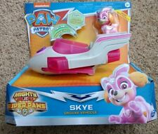 Paw Patrol Mighty Pups Super Paws Skye's Deluxe Vehicle With Light & Sounds NEW!