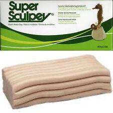 SUPER SCULPEY POLYMER CLAY Original Beige 1lb 454g  FRESH STOCK - FREE DELIVERY