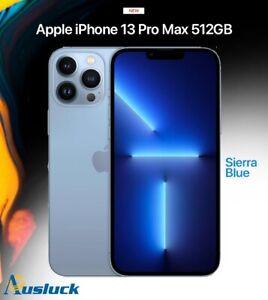 """APPLE iPHONE 13 PRO MAX 512GB SIERRA BLUE MLLJ3X/A MODEL  NEW """"AUSLUCK"""""""