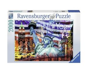 """NEW RAVENSBURGER Puzzle 2000 Tiles Pieces Jigsaw """"New York Collage"""""""