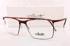 New Silhouette Eyeglass Frames URBAN FUSION FULLRIM 2903 6053 Havana Unisex  54