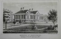 Residence of Henry Eckford 7th & 8th St. near 24th St. New York City 1860 print