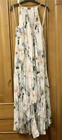 New Ted Baker Valetia Elegance Pleat Dip Hem Dress In White Sz 2,3,4