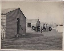 WW1 Soldier panoramic view wooden barrack huts Royal Fusiliers Clipstone Camp