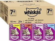 Whiskas Wet food Pouches, Delicious Tasty Mixed Selection in Jelly,Cats Aged 7+