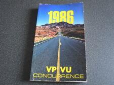 PEUGEOT brochure catalogue document interne VP-VU concurrence - 1986 - très rare