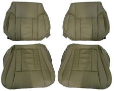 2001-2002 Toyota 4runner tan leather seat covers 2 back rest and 2 bottoms