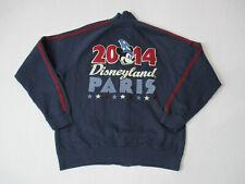Disneyland Paris Sweater Adult Large Blue Red Full Zip Walt Disney Mickey Mouse