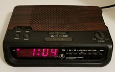 GE FM/AM Clock Radio Model 7-4613B Red LCD Battery Backup Tested And Working