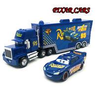 Disney Pixar Cars McQueen Fabulous Hauler Truck 1:55 Diecast Model Loose Kid Toy